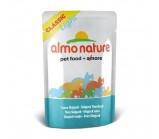 ALMO NATURE CLASSIC консервы для стерилизованных кошек и кастрированных котов с полосатым Тунцом 55гр*24 (пауч)