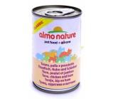 ALMO NATURE CLASSIC консервы для кошек с Тунцом, Курицей и Ветчиной 140гр(54357)