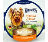 Happy Dog  (Хэппи Дог) консервы для собак  нежный паштет из курицы и утки (германия) [85 г]
