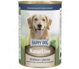 Happy Dog  (Хэппи Дог)  naturline консервы для собак из ягненка с рисом [400 г]