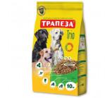 Трапеза - ТРИО сухой корм для собак Индейка, кролик, телятина [10 кг]